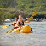 Kayaking and having fun with friends and family in Hawaii