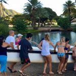 Outrigger paddling and learning about the Hawaiian culture