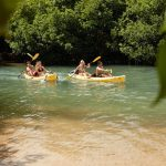 Kayaking in Hawaii with friends and family