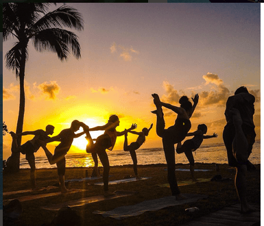 Sunset Yoga In Honolulu