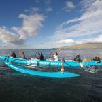 Outrigger paddling in Hawaii