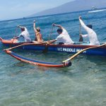 Sport paddle a Hawaiian Outrigger Canoe and have fun with friends.